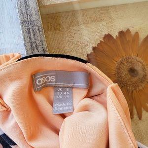 ASOS Dresses - Asos Design Bandeau Printed Draped Maxi Dress 14